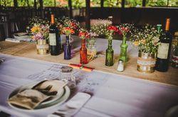 Centros de mesa para casamientos en verano