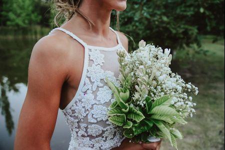 30 ramos de novia blancos, ¿te animás a un look total white?