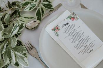 ¿Cómo presentar el menú de casamiento? Ideas y consejos