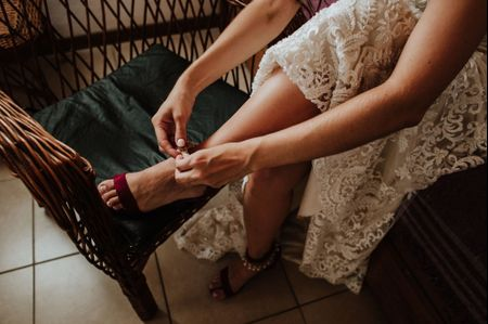 6 consejos para sentirte cómoda con los zapatos de novia
