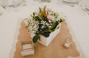 Decoración del casamiento con arpillera, el elemento estrella de las bodas rústicas
