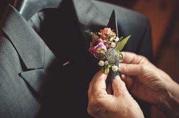 Boutonnière para el novio: 5 estilos con mucha elegancia