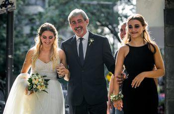 ¿Con quién puede entrar la novia a la ceremonia? Conocé estas 9 opciones