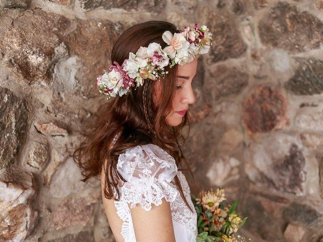 Coronas de flores para novias: plus de estilo y personalidad