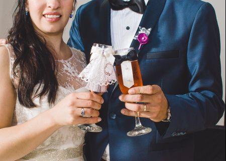 10 ideas para personalizar las copas de los novios ¡Chin chin!