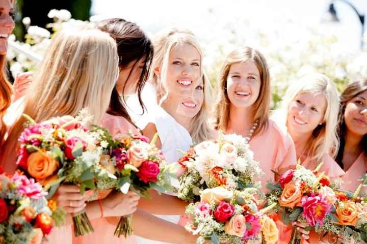 Muchas flores y color para las damas