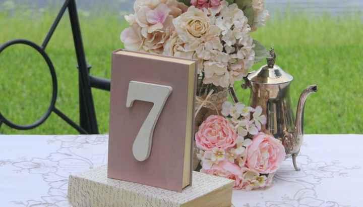 Ideas de numeración de mesas tematica vintage ayuda!! - 3