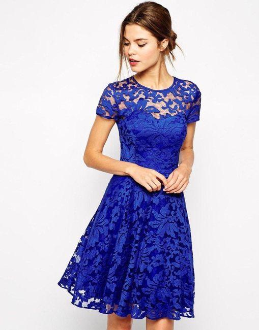 Vestidos para boda civil azul