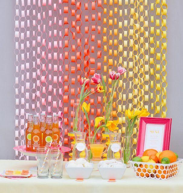 Deco con cortina de papel - 5