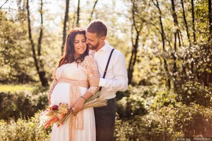 Vestidos de novias para embarazadas - 3