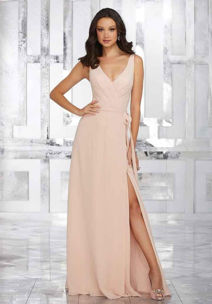 Si fueras dama de honor de tu propio matrimonio, ¿cuál de estos vestidos te pondrías? - 1
