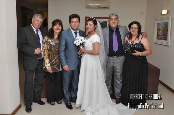 Con mis padres y suegros