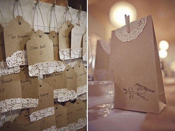 Blondas papel kraft - Como decorar bolsas de papel ...