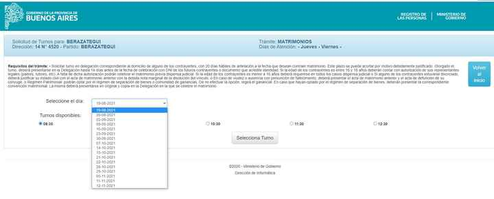 Turno registro civil berazategui - 1