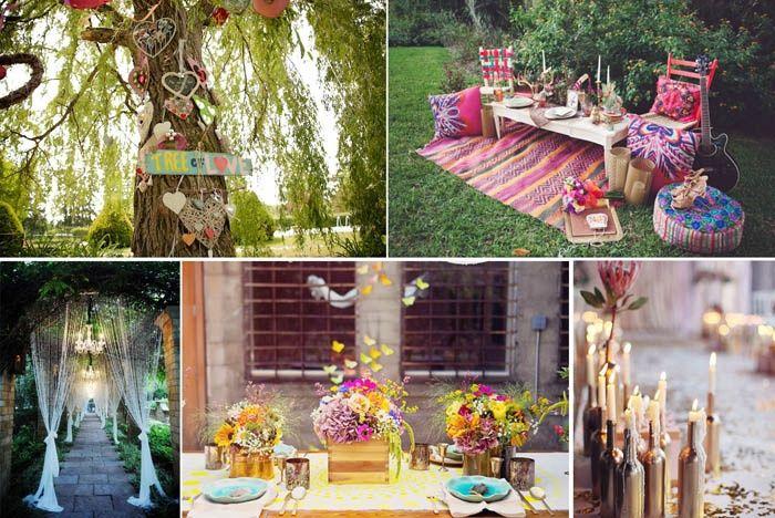 Tema Matrimonio Hippie Chic : Boda inspirada en los