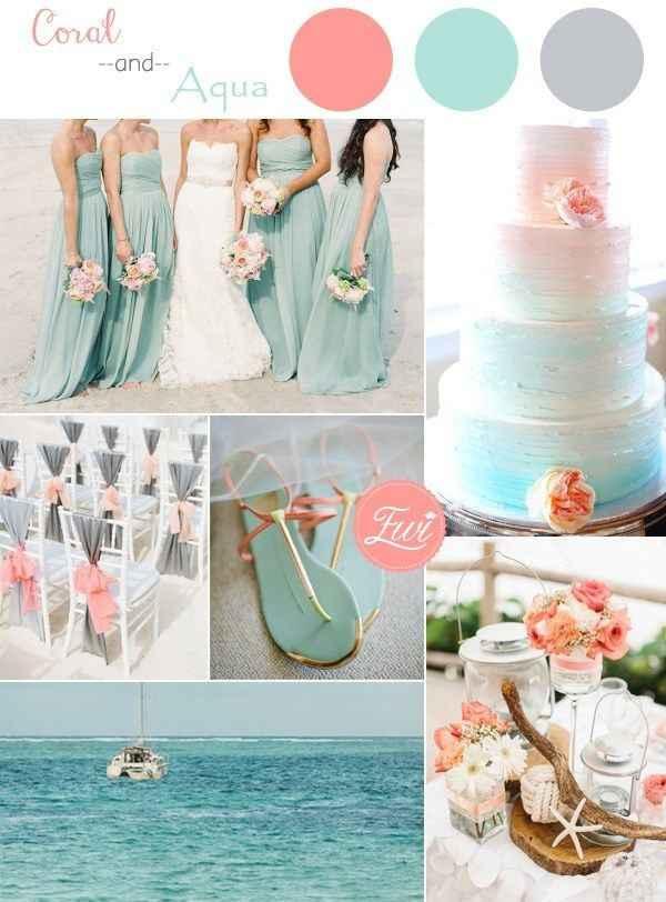 ¿Los colores de la boda serán? - 1