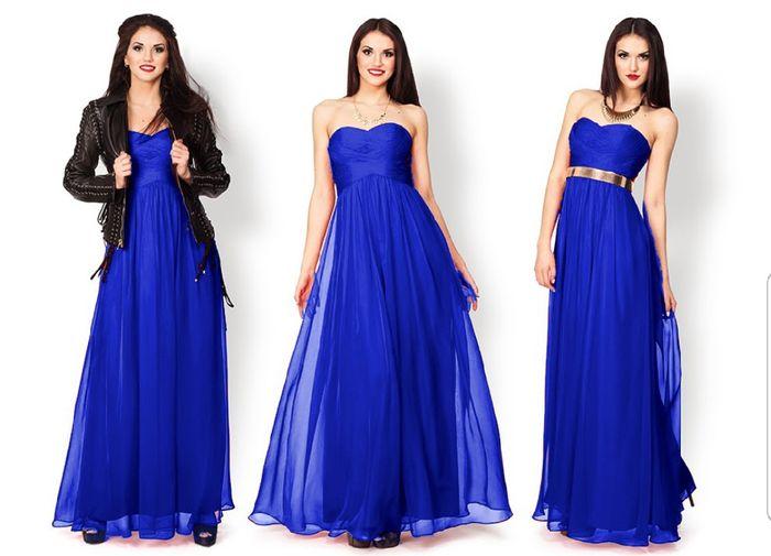 b8a9ef8fce Vestidos largos para damas de honor color azul - Vestidos mujer