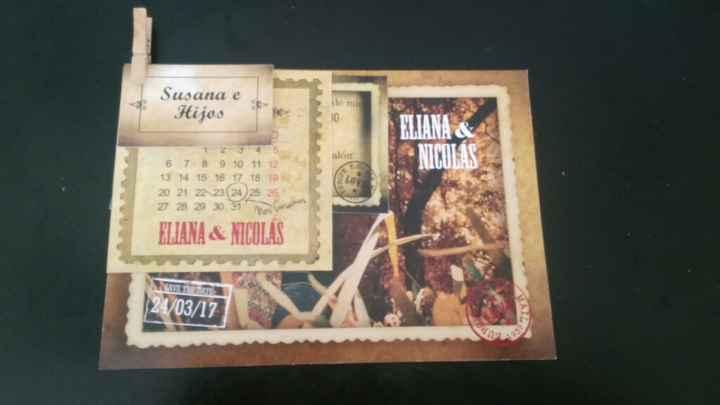 Mis invitaciones estilo postal vintage!! - 1