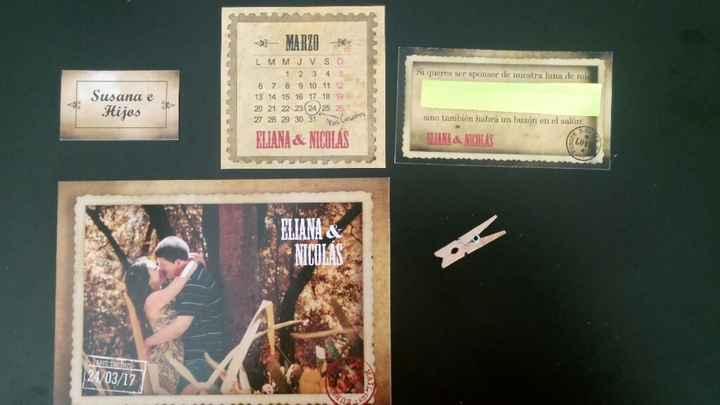 Mis invitaciones estilo postal vintage!! - 2