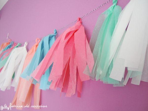 Guirnaldas de papel seda