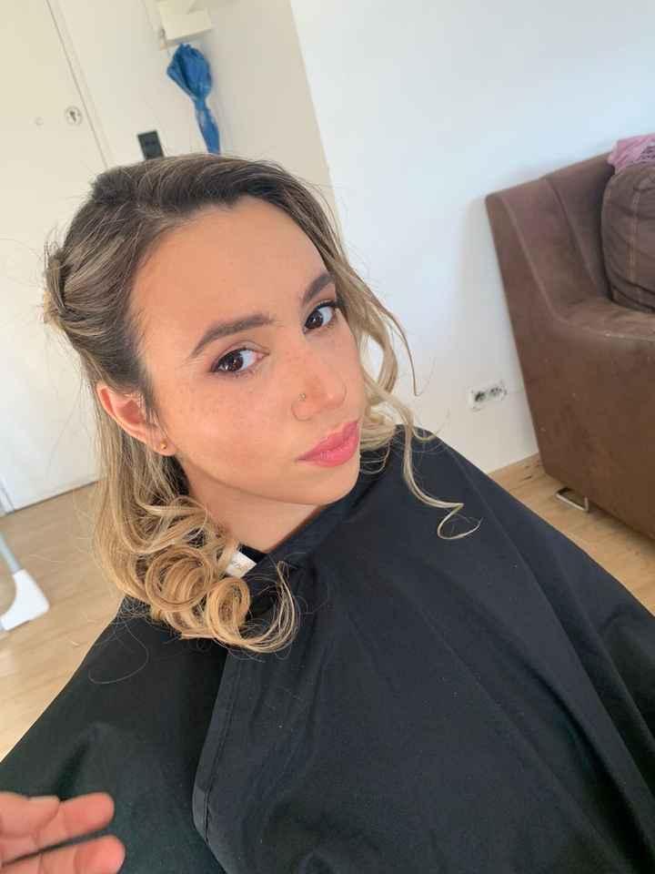 Prueba de maquillaje y peinado ❤️ - 2