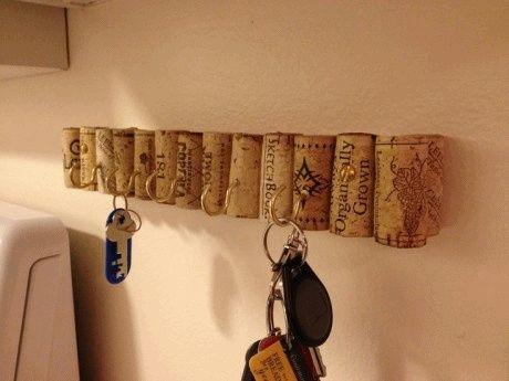 Porta llaves con corchos - Porta llaves pared ...