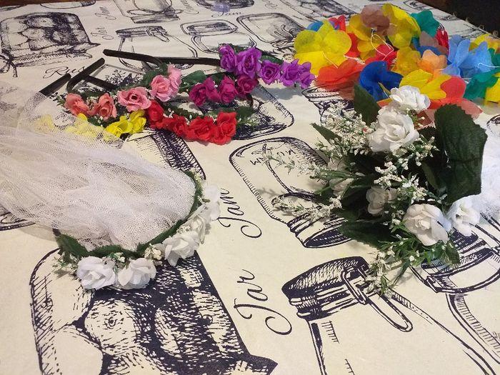 Vinchas de flores . Otras opciones de carnaval carioca 1