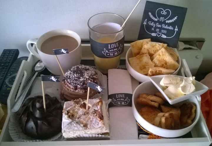 Desayuno de san valentin