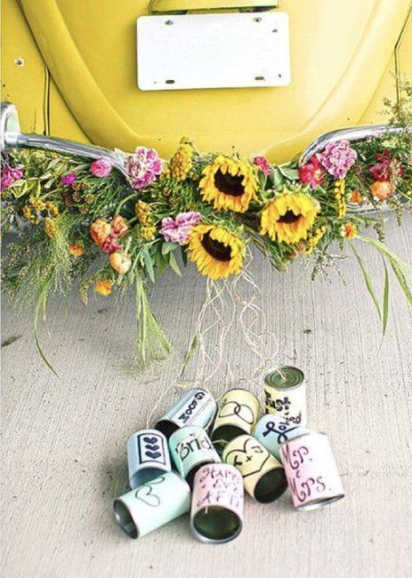 Ideas para decorar el auto el día de la boda 19