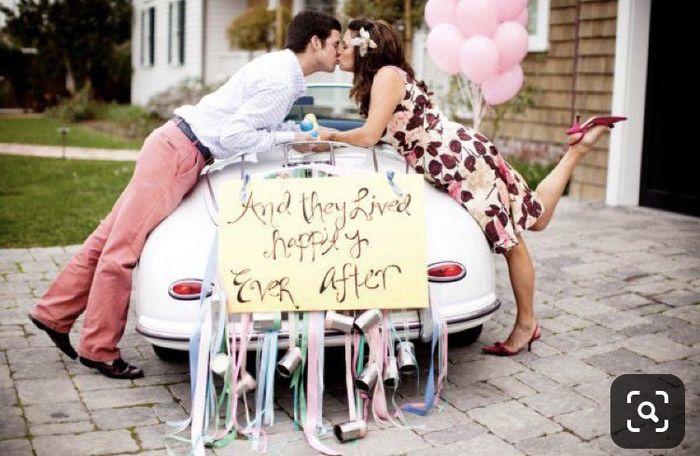 Ideas para decorar el auto el día de la boda 25