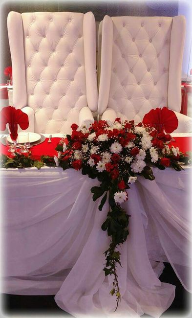 decoracion de bodas en color rojo