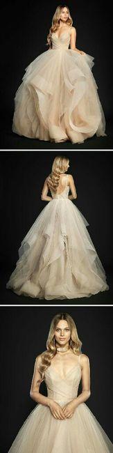 Vestidos cortos de novia color champagne