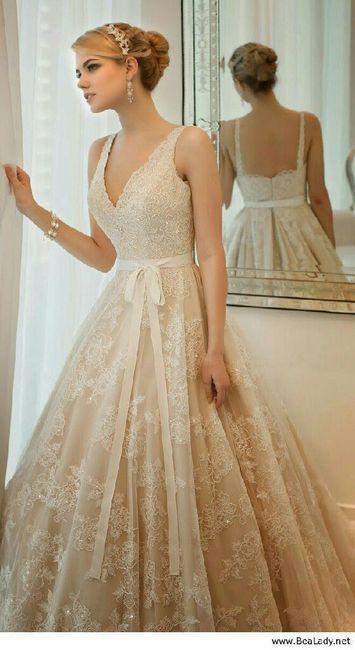 vestidos de novia color champagne