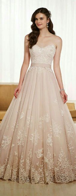 Vestidos novia color champagne