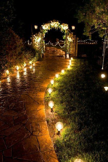 inspiraciones bodas de noche al aire libre
