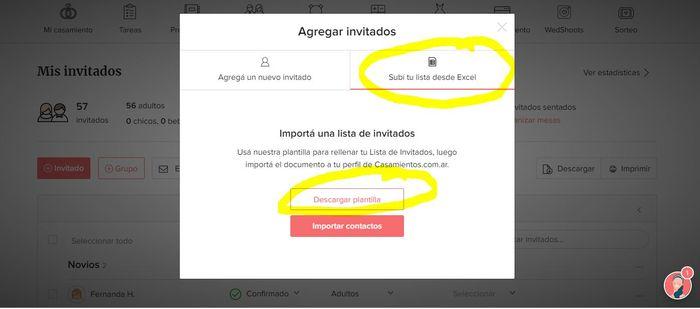 Pasar invitados de un excell a la app invitados 1