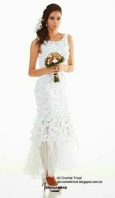Vestidos de novia crochet - 7