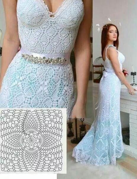 Vestidos de novia crochet - 8