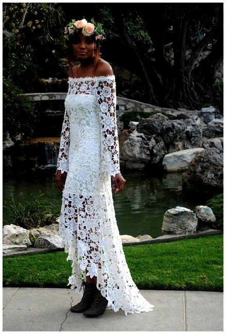 Vestidos de novia crochet - 16