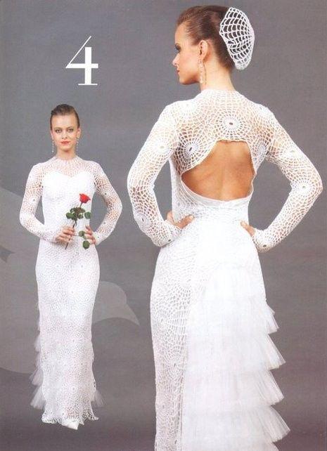 Vestidos de novia crochet - 26