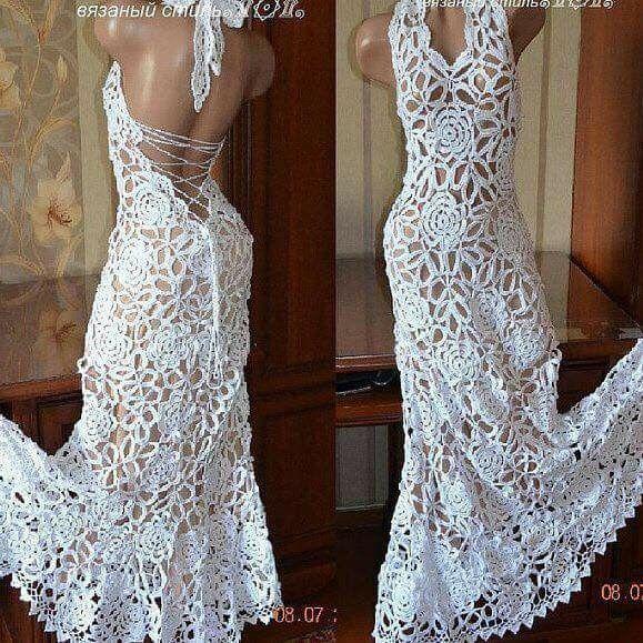 Vestidos de novia crochet - 37
