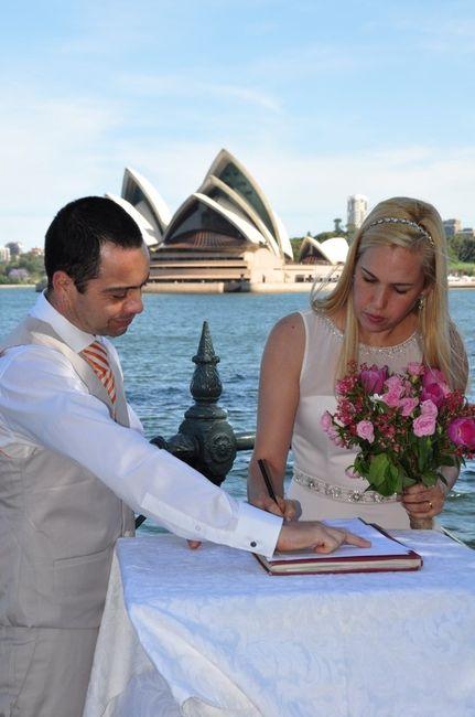 Fotos del casamiento civil