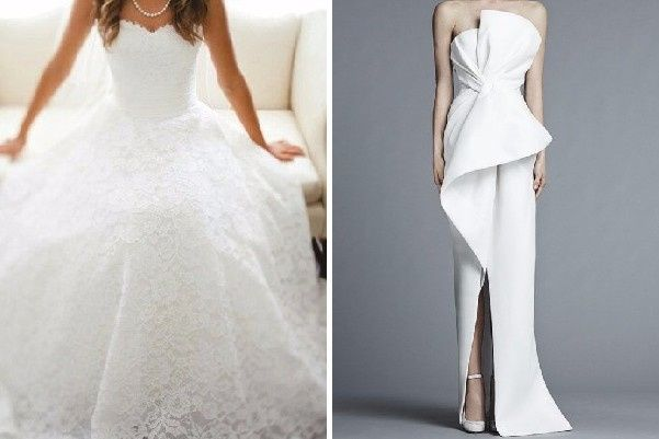Vestidos de novia blanco puro