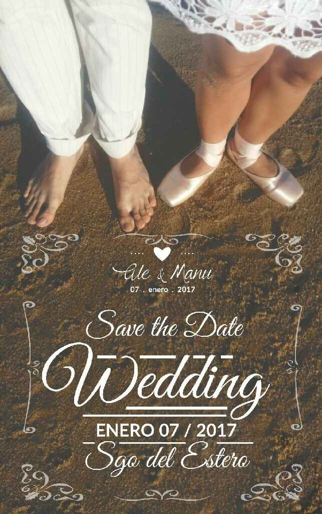 Nuestro save the date!!! - 1