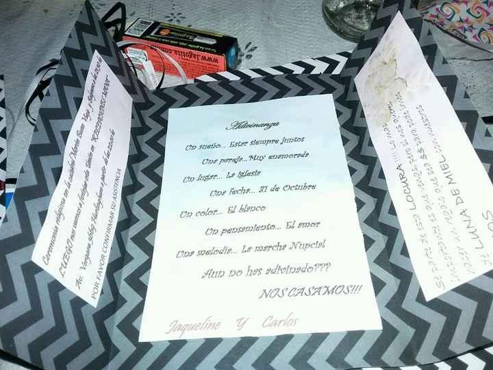 Mis invitaciones y los centro de mesa - 3