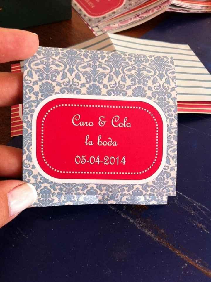 Nuestros souvenirs!!! ( home made) - 1