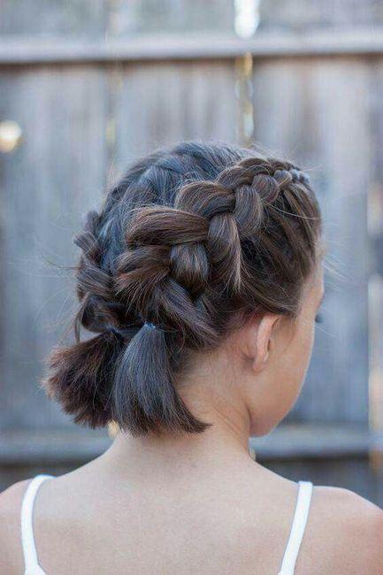 Peinados con trenzas para chicas con pelo corto 6