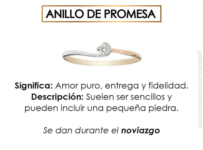 El significado de cada tipo de anillos. 5