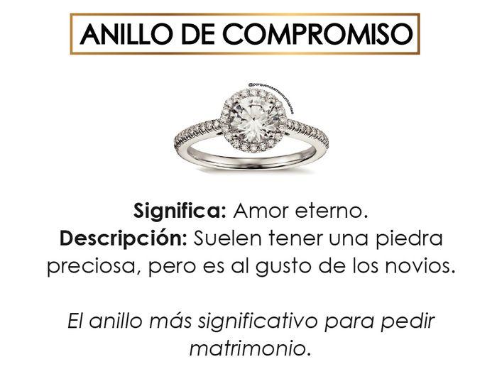 El significado de cada tipo de anillos. 6
