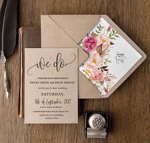 Convites de casamento: ESCOLHE 1 de 2 2